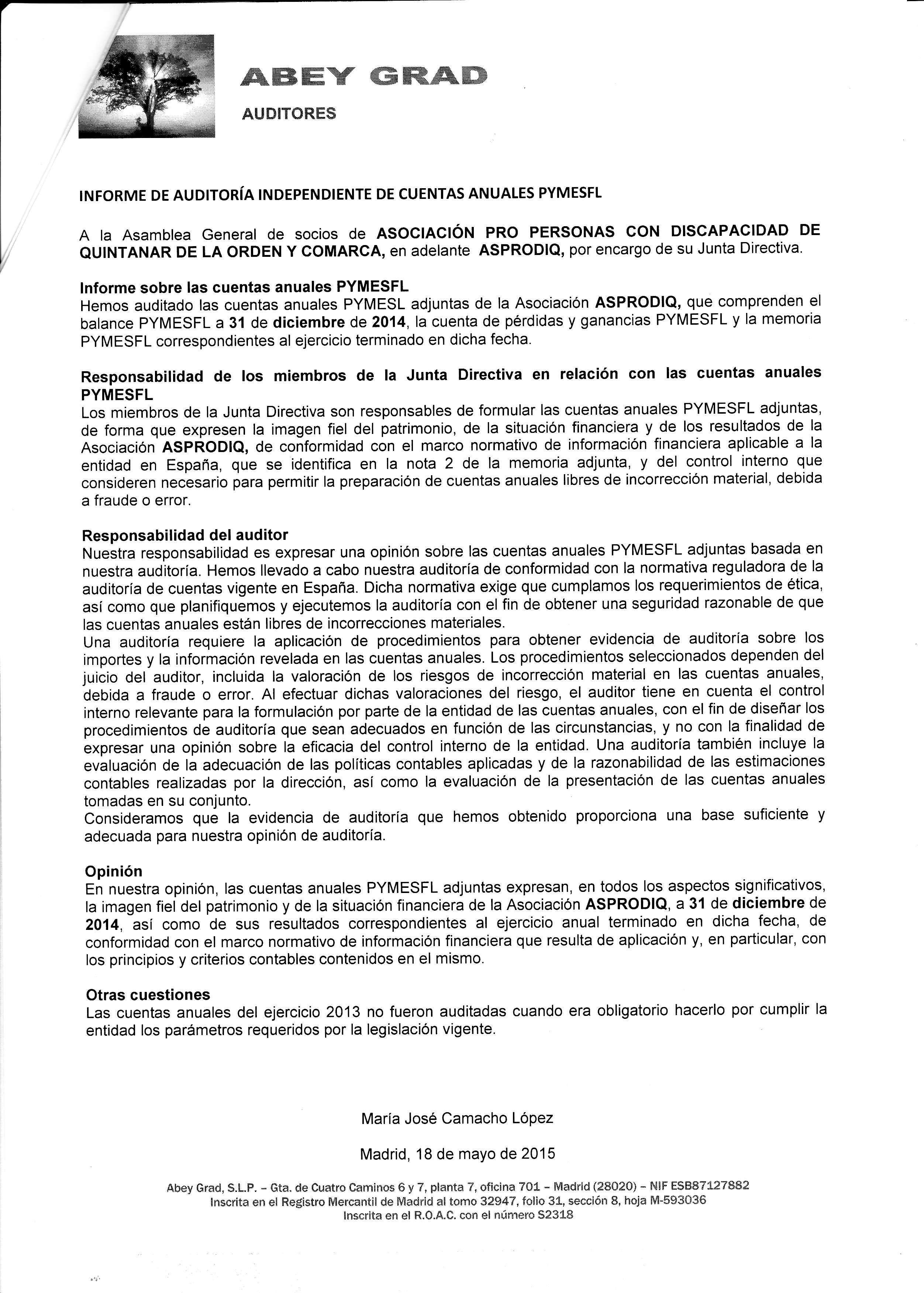 informe auditoria 2